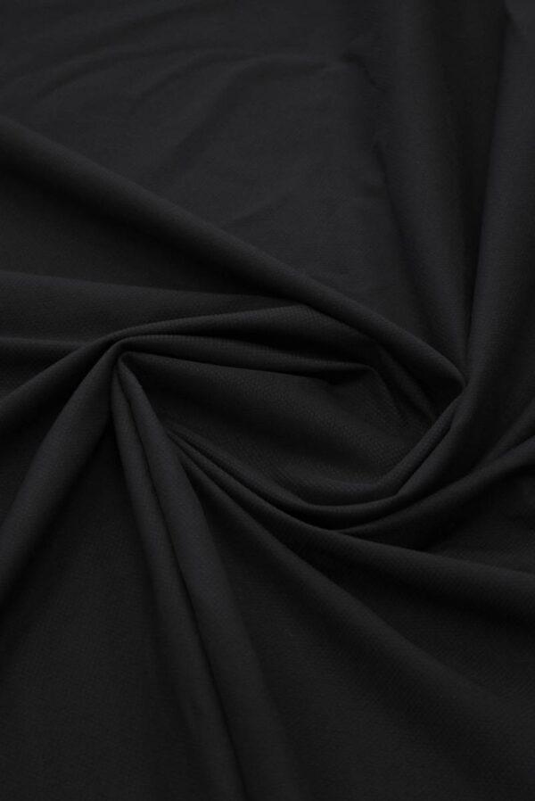 Пике стрейч черный (8436) - Фото 8
