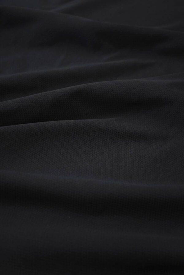 Пике стрейч черный (8436) - Фото 6