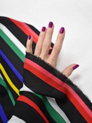 Шелк в разноцветную полоску (8474) - Фото 17