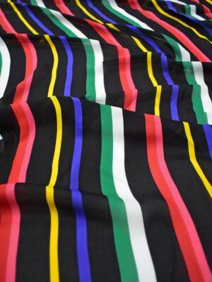 Шелк в разноцветную полоску (8474) - Фото 16
