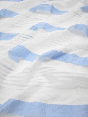 Органза белая в голубую полоску (7361) - Фото 11