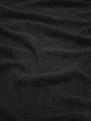 Трикотаж черный с жаккардовым узором (8604) - Фото 13