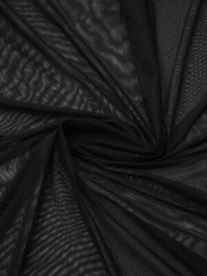 Сетка стрейч мягкая черная (8631) - Фото 19