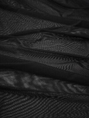 Сетка стрейч мягкая черная (8631) - Фото 18