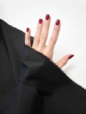 Хлопок стрейч рубашечный черный (8723) - Фото 17