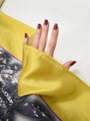 Подклад в крупный горох с желтой каймой (8731) - Фото 17