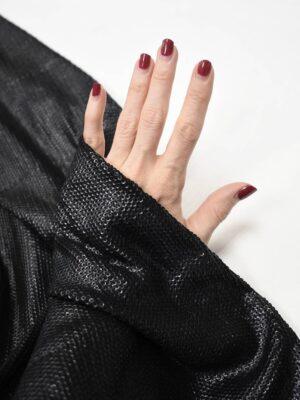 Пайетки черные на трикотажной основе (8798) - Фото 17