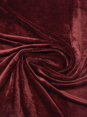 Бархат шелковый бордовый (8920) - Фото 18