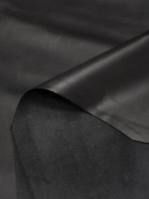 Кожа натуральная черная гладкая (8943) - Фото 12