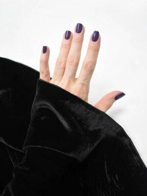 Бархат вискозный черного цвета (9014) - Фото 12