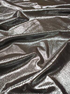 Экозамша коричневая с серебряным напылением (9028) - Фото 12