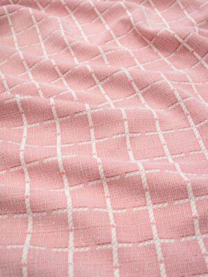Трикотаж розовый в клетку с люрексом (9042) - Фото 15