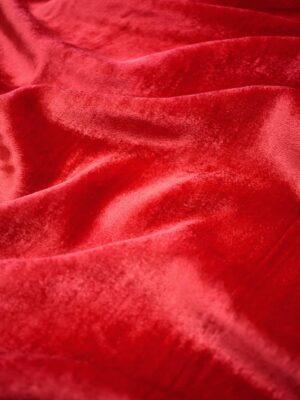 Бархат шелковый огненно-красный (9046) - Фото 9