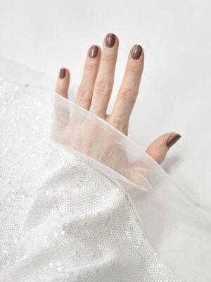 Пайетки белые на мягкой сетке (9063) - Фото 17