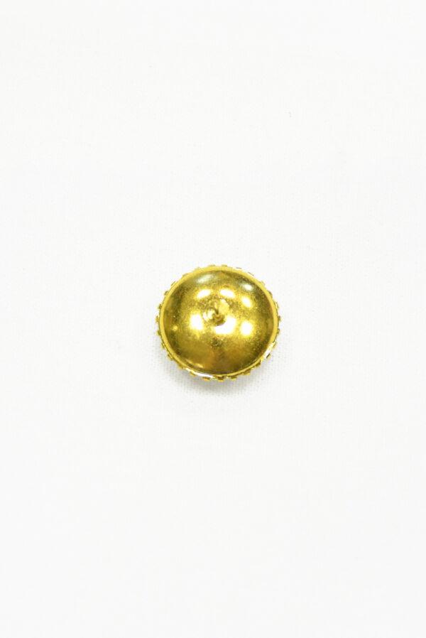 Пуговица металл золото с кристаллами 1