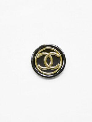 Пуговица металл блэк никель с золотом глянцевая (р1474) - Фото 24
