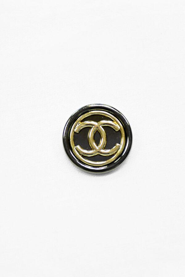 Пуговица металл блэк никель с золотом глянцевая (р1474) - Фото 6