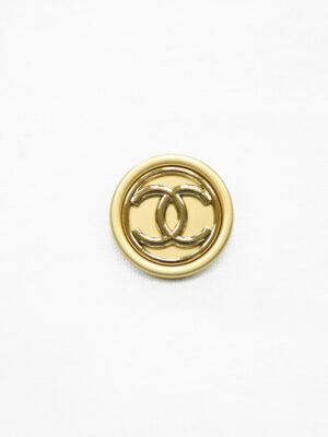 Пуговица металл золотисто-бежевая глянцевая (р1475) - Фото 9