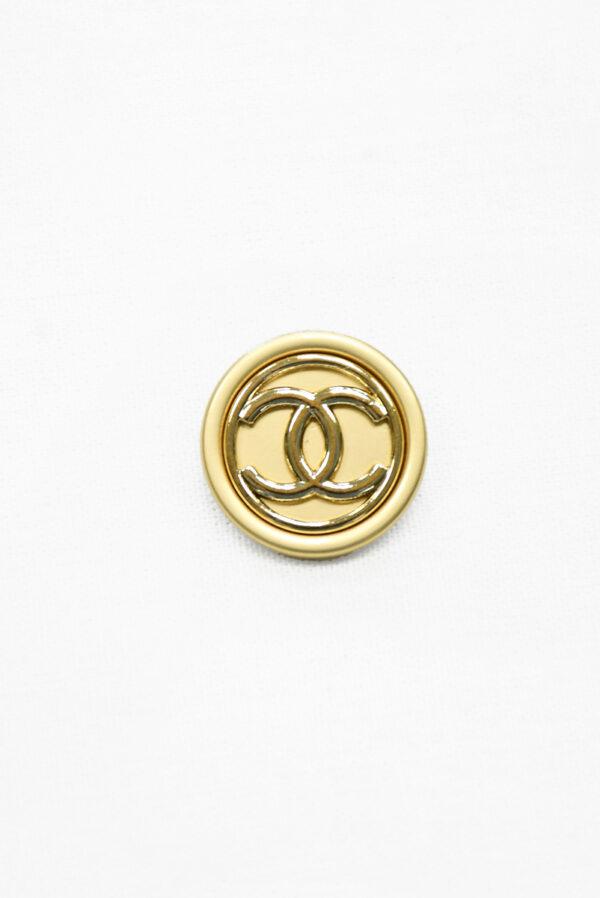 Пуговица металл золотисто-бежевая глянцевая (р1475) - Фото 6