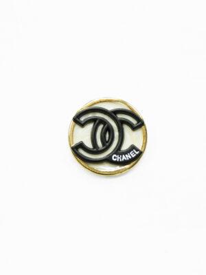 Пуговица металл в золотой окантовке с черными буквами (р1480) - Фото 22