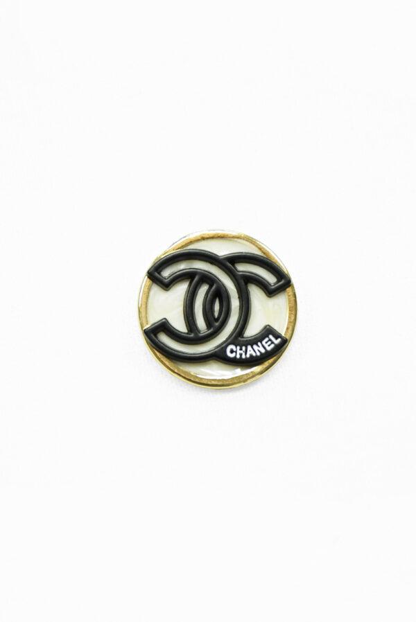Пуговица металл в золотой окантовке с черными буквами (р1480) - Фото 6