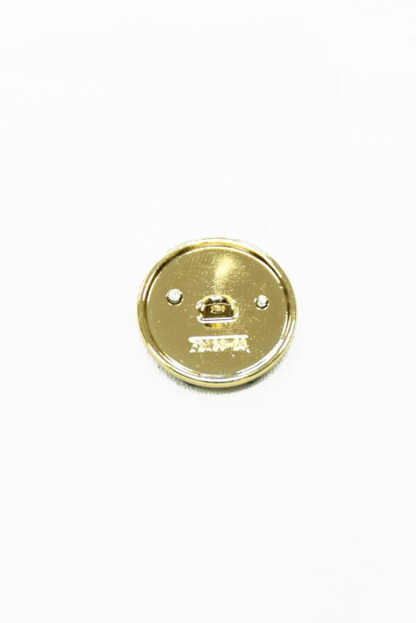 Пуговица металл в золотой окантовке с черными буквами (р1480) - Фото 9