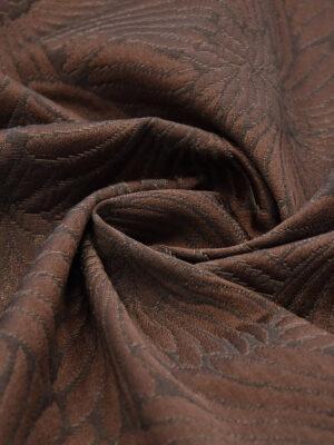 Жаккард коричневый с крупными цветами (0024) - Фото 12