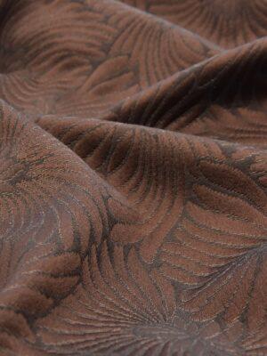 Жаккард коричневый с крупными цветами (0024) - Фото 11