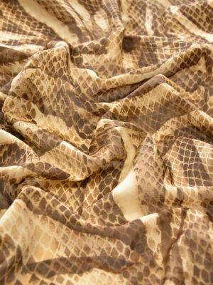 Батист змеиный принт песочно-шоколадный (0536) - Фото 13