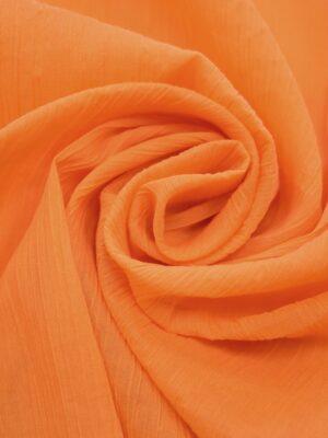 Хлопок жатый марлевка оранжевый оттенок (0616) - Фото 14