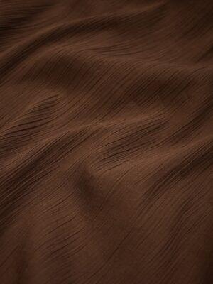 Хлопок жатый марлевка темно коричневый (0630) - Фото 11