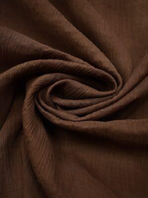 Хлопок жатый марлевка темно коричневый (0630) - Фото 12