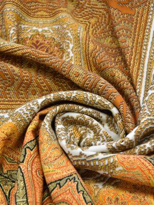 Шерсть купон оранжевый скандинавские мотивы (0662) - Фото 11