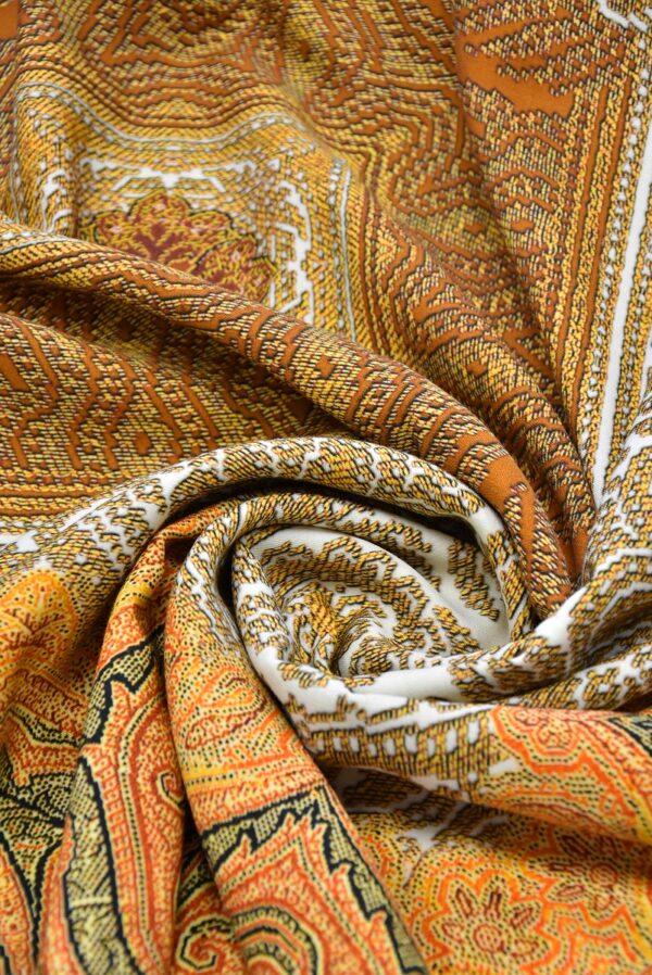 Шерсть купон оранжевый скандинавские мотивы (0662) - Фото 7