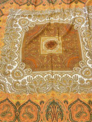 Шерсть купон оранжевый скандинавские мотивы (0662) - Фото 10