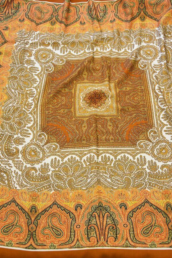 Шерсть купон оранжевый скандинавские мотивы (0662) - Фото 6