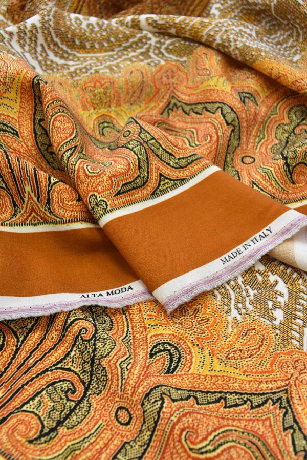 Шерсть купон оранжевый скандинавские мотивы (0662) - Фото 9