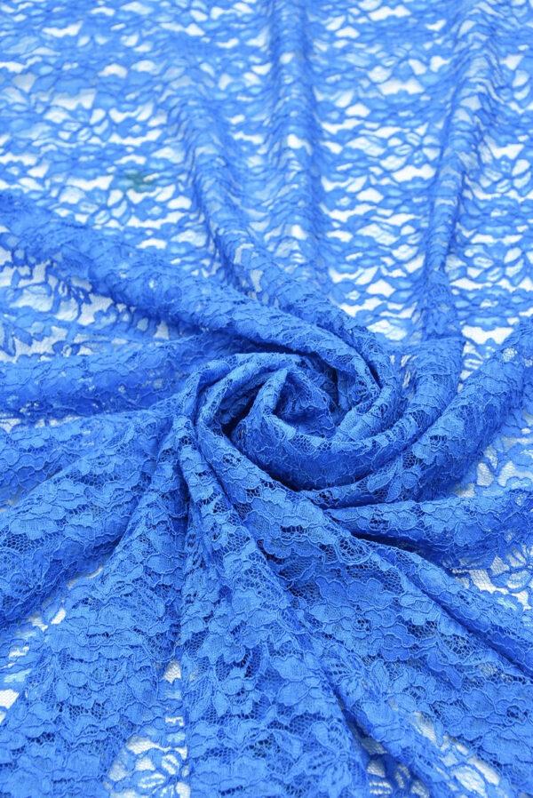 Кружево сутажное голубое с цветами (0830) - Фото 7