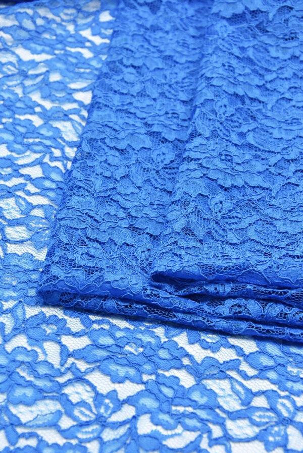 Кружево сутажное голубое с цветами (0830) - Фото 8