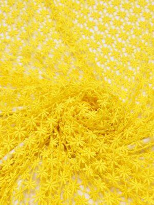 Кружево макраме желтое в цветочек (0842) - Фото 14