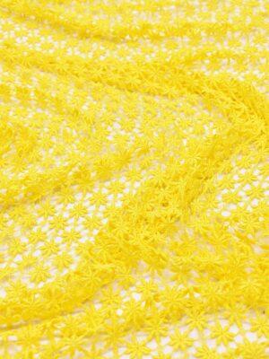 Кружево макраме желтое в цветочек (0842) - Фото 13