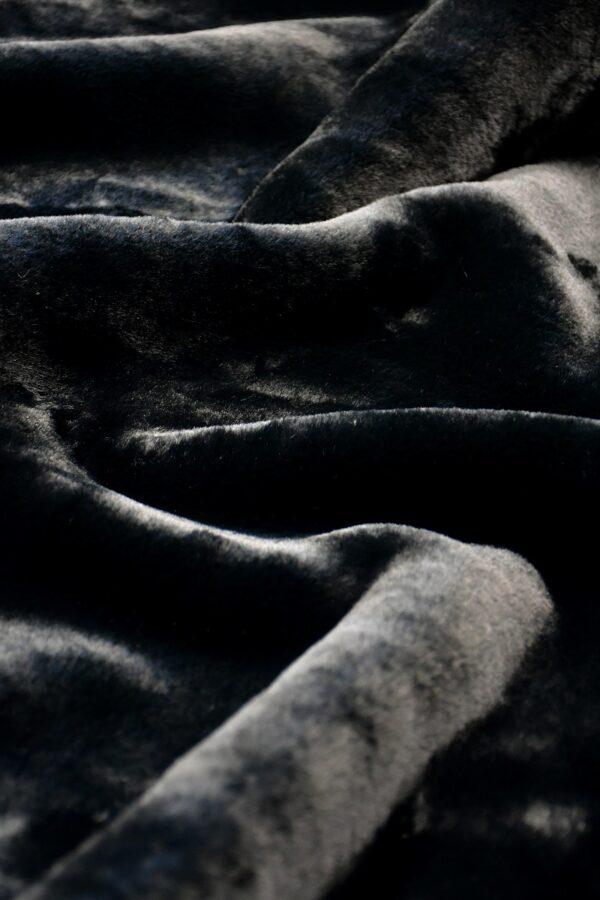 искусственный мех мутон черный
