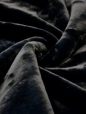 Мех искусственный мутон черный на хлопке (10573) - Фото 13