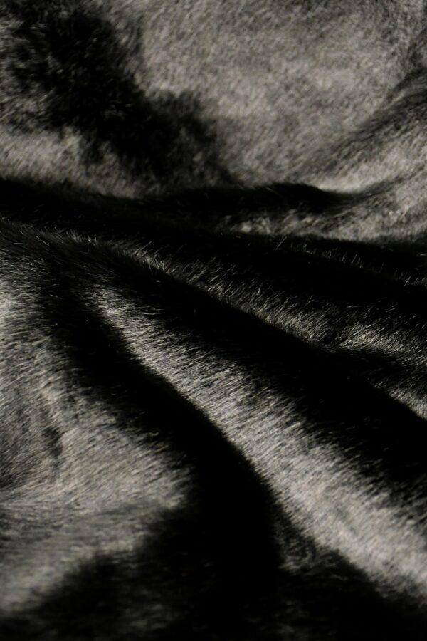 Мех искусственный норка черный бриллиант (10579) - Фото 9