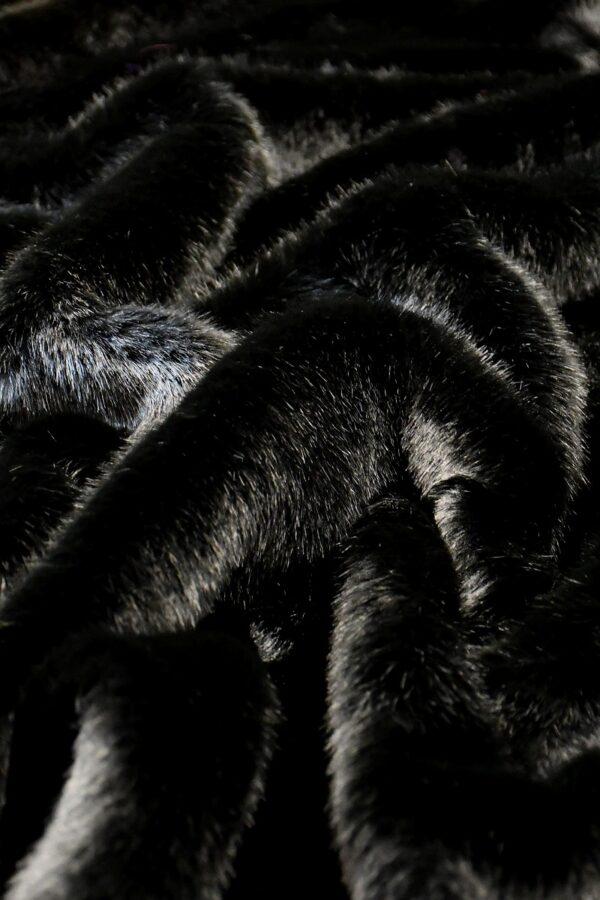Мех искусственный норка черный бриллиант (10579) - Фото 10