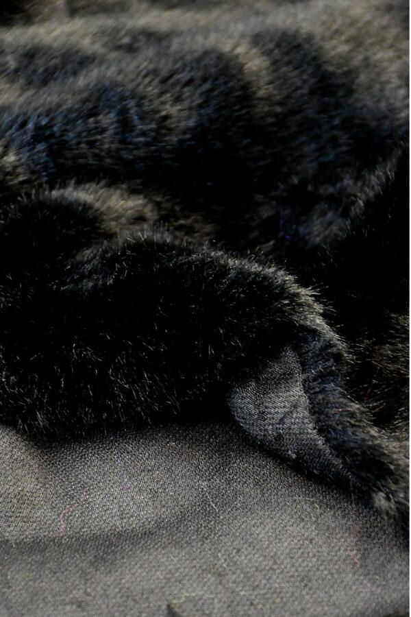 Мех искусственный норка черный бриллиант (10579) - Фото 11