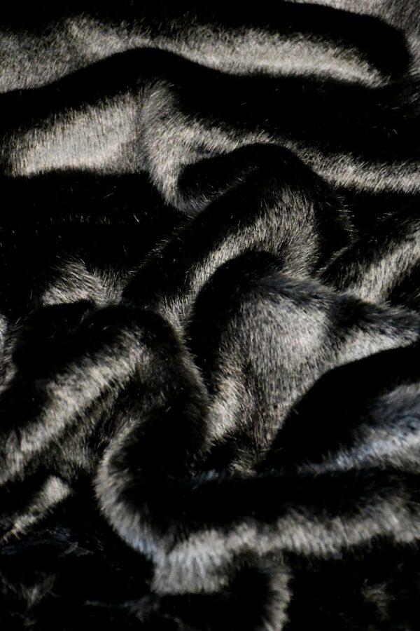 Мех искусственный норка черный бриллиант (10579) - Фото 6
