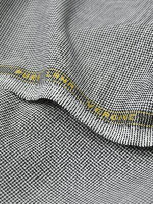 Костюмная шерсть черно-белая куриная лапка (1105) - Фото 17