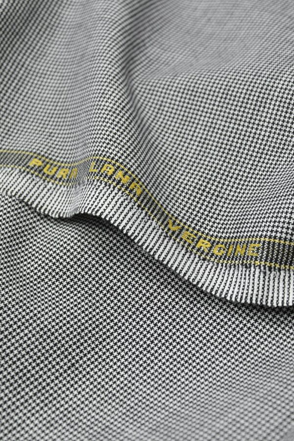 Костюмная шерсть черно-белая куриная лапка (1105) - Фото 7
