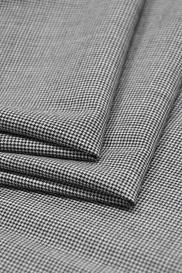 Костюмная шерсть черно-белая куриная лапка (1105) - Фото 8